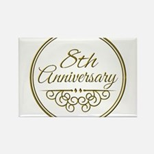 8th Anniversary Magnets