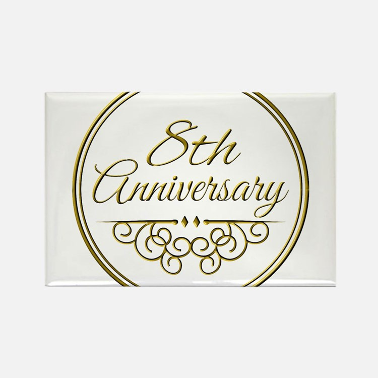 Wedding Gifts For 8th Anniversary : 8Th Wedding Anniversary 8th Wedding Anniversary Magnets 8th Wedding ...
