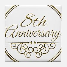 8th Anniversary Tile Coaster
