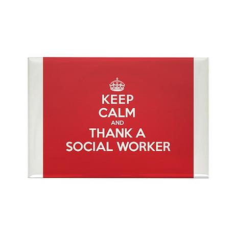 K C Thank Social Worker Magnets