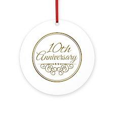 10th Anniversary Ornament (Round)