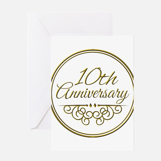 10th Anniversary Greeting Cards