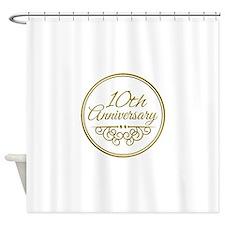 10th Anniversary Shower Curtain