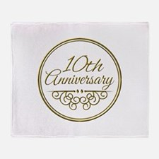 10th Anniversary Throw Blanket