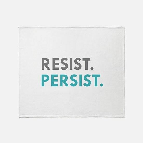RESIST. PERSIST. Throw Blanket