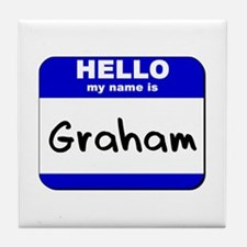 hello my name is graham  Tile Coaster