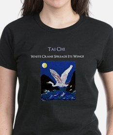 White Crane Spreads Its Wings T-Shirt