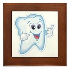 Friendly Tooth Framed Tile