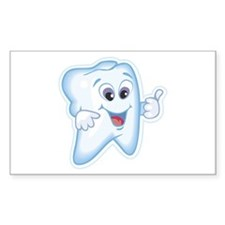 Friendly Tooth Rectangle Decal