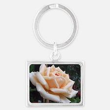 toronto peach rose  Landscape Keychain