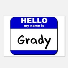 hello my name is grady  Postcards (Package of 8)