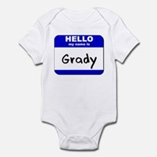 hello my name is grady  Infant Bodysuit