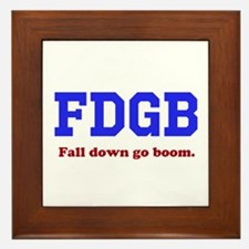 Fall Down Go Boom Framed Tile