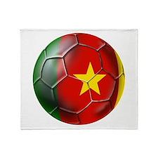 Cameroon Football Throw Blanket