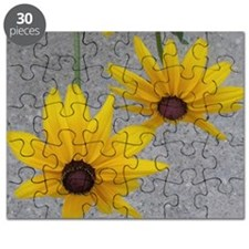 twin sunflowers Puzzle