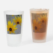 twin sunflowers Drinking Glass