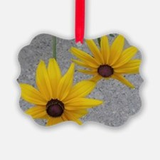 twin sunflowers Ornament