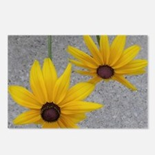 twin sunflowers Postcards (Package of 8)