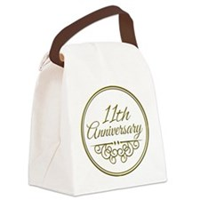 11th Anniversary Canvas Lunch Bag