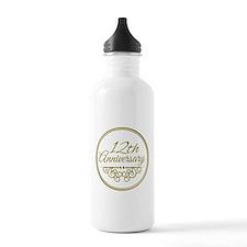 12th Anniversary Water Bottle