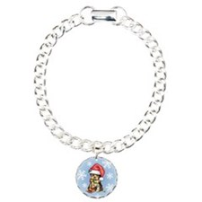 Holiday Yorkie Charm Bracelet, One Charm