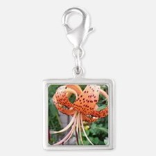 ms tiger lily Silver Square Charm