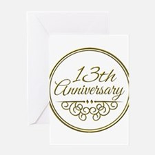 13th Anniversary Greeting Cards