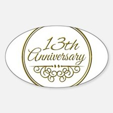 13th Anniversary Decal