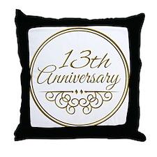 13th Anniversary Throw Pillow