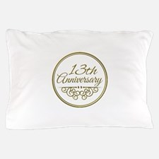 13th Anniversary Pillow Case
