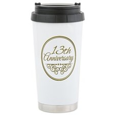 13th Anniversary Travel Mug