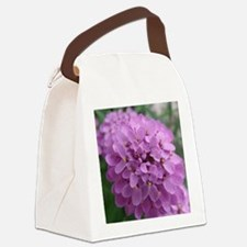 the purple flower Canvas Lunch Bag