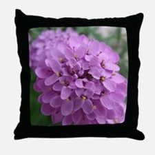 the purple flower Throw Pillow