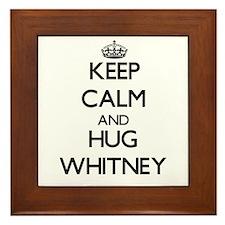 Keep calm and Hug Whitney Framed Tile