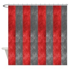 Scarlet And Grey Shower Curtain