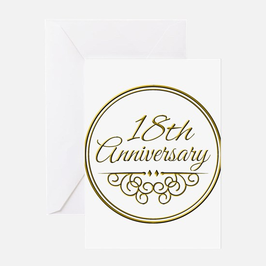 18th Anniversary Greeting Cards