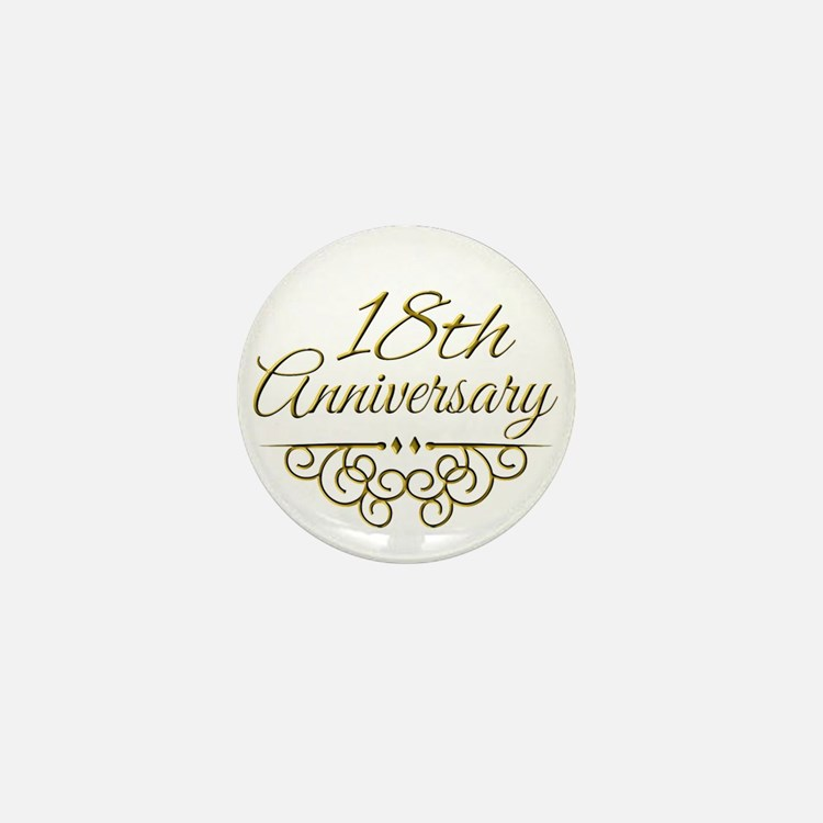 Gifts For 18th Wedding Anniversary: 18Th Wedding Anniversary 18th Wedding Anniversary Button