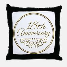 18th Anniversary Throw Pillow