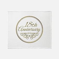 18th Anniversary Throw Blanket