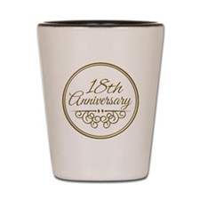 18th Anniversary Shot Glass
