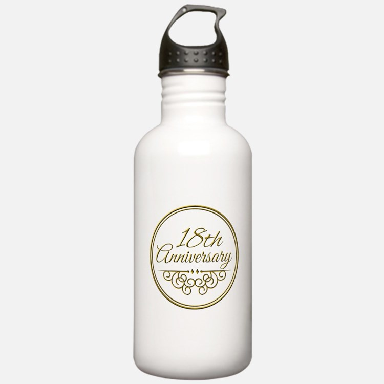 18th Anniversary Water Bottle