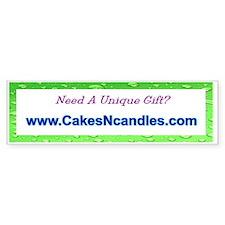 www.CakesNcandles.com bumper Bumper Sticker