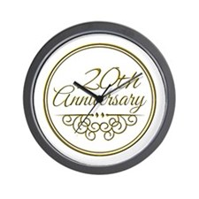 20th Anniversary Wall Clock