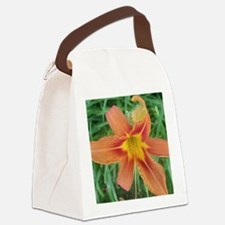 Big orange Canvas Lunch Bag