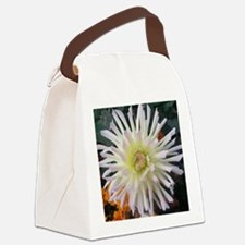 white beauty Canvas Lunch Bag