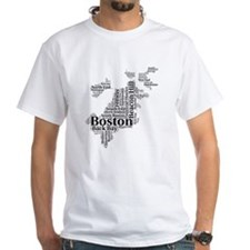 Boston Neighborhoods Cloud Map Shirt