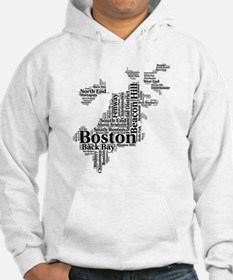 Boston Neighborhoods Cloud Map Jumper Hoody
