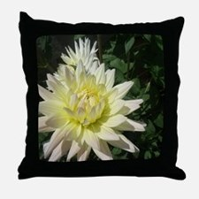 a row of white flowers Throw Pillow