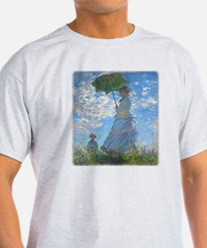 Woman with a Parasol by Claude Monet T-Shirt