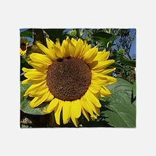 sunflower awake Throw Blanket